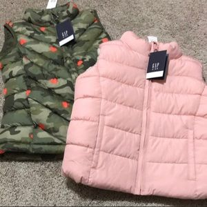 NWT- GAP kids- S -two vests!!
